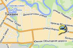 Карта расположения филиала